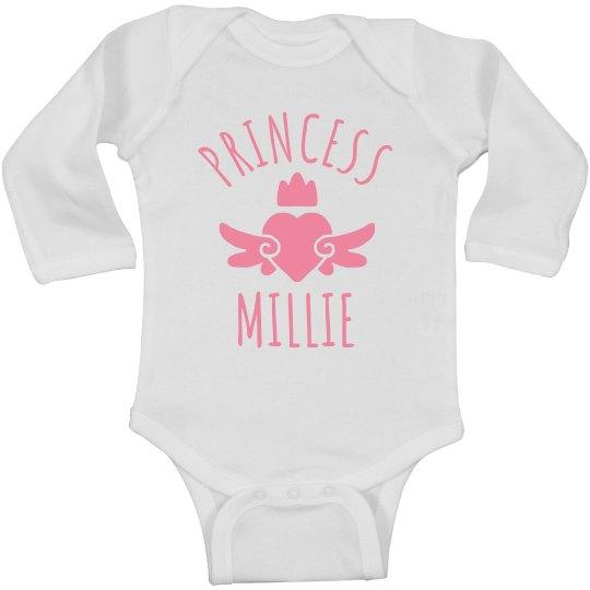 Cute Princess Millie Heart Onesie