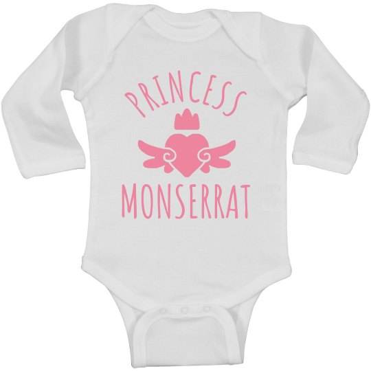 Cute Princess Monserrat Heart Onesie