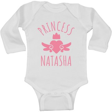 Cute Princess Natasha Heart Onesie