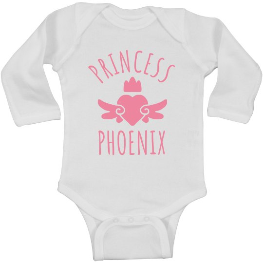 Cute Princess Phoenix Heart Onesie