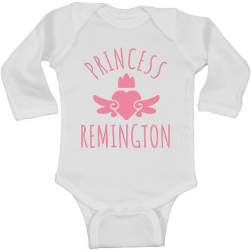 Cute Princess Remington Heart Onesie
