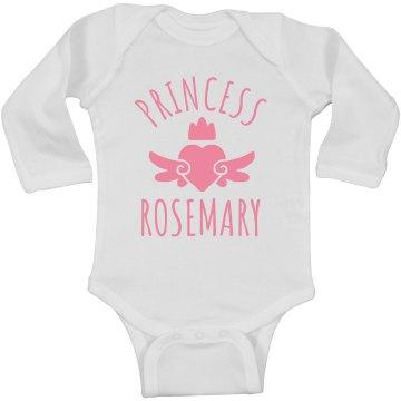 Cute Princess Rosemary Heart Onesie