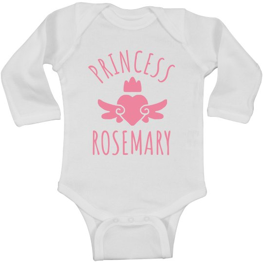 Cute Princess Rosemary Heart Onesie
