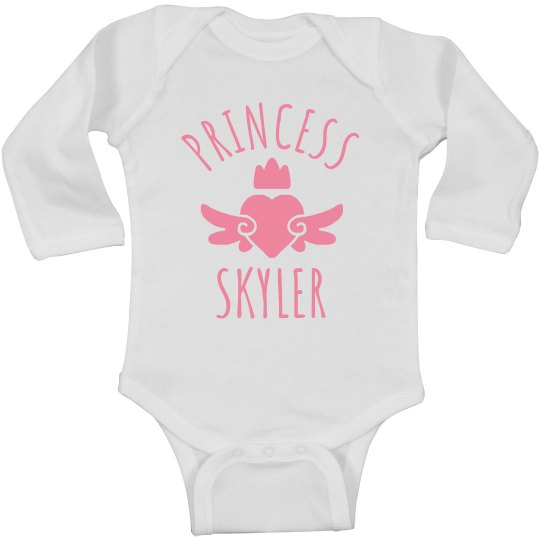 Cute Princess Skyler Heart Onesie