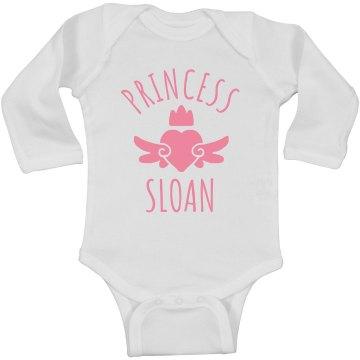 Cute Princess Sloan Heart Onesie