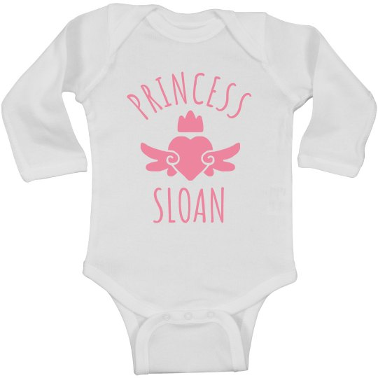 Cute Princess Sloan Heart Onesie
