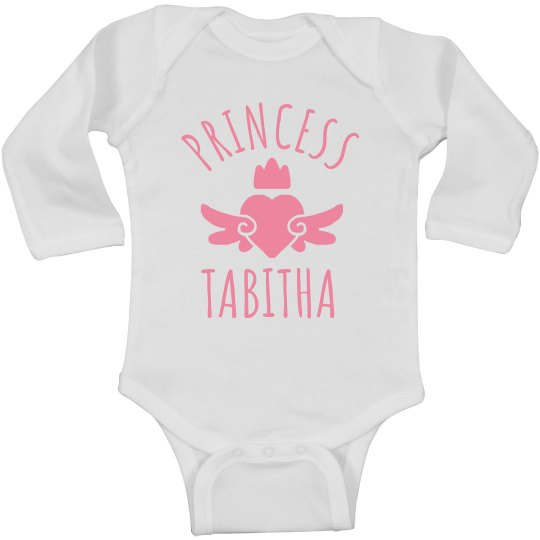 Cute Princess Tabitha Heart Onesie