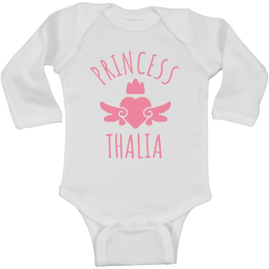 Cute Princess Thalia Heart Onesie