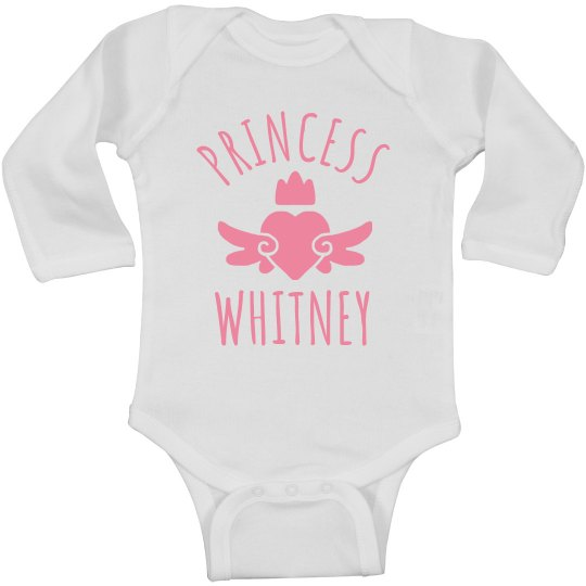 Cute Princess Whitney Heart Onesie