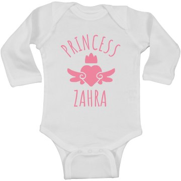 Cute Princess Zahra Heart Onesie