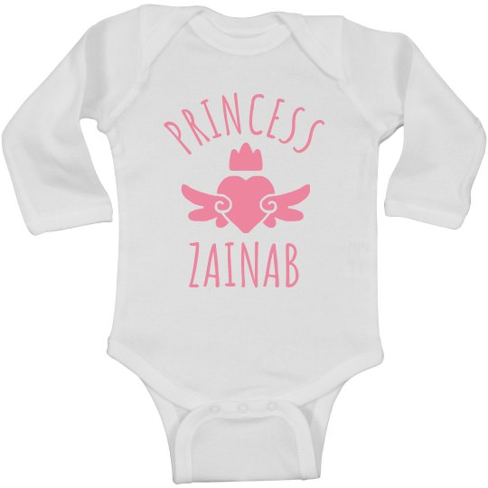 Cute Princess Zainab Heart Onesie