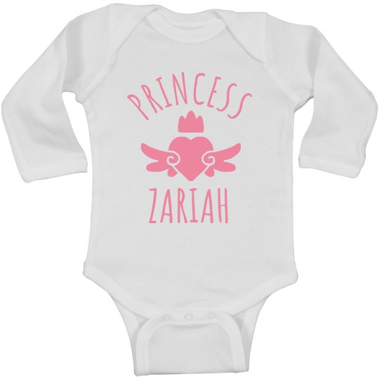 Cute Princess Zariah Heart Onesie