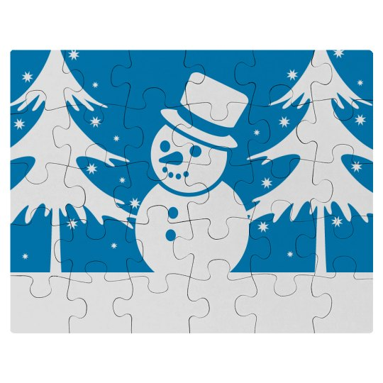 Cute Winter Snowman Kid's Puzzle