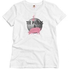 TIE PILOTS & HAM (misses ladie's whitewhitepink)