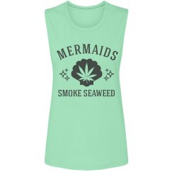 Cute 420 Mermaids Smoke Seaweed