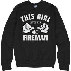 Girl loves her fireman