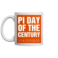 Pi Day Mug Orange