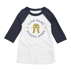 Custom Robot Club School Raglan