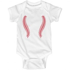 Baseball Onesie with Team Daddy Back
