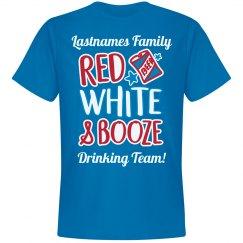 Lastnames Family Red White & Booze