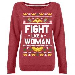 Fight Like A Woman Warrior Sweatshirt