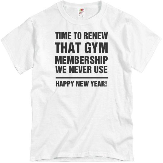 05ebf9356 New Years New Membership Unisex Basic Promo T-Shirt