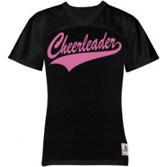 Pink Glitter Cheerleader