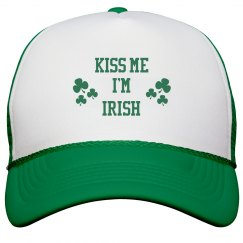 Kiss Me I'm Irish St Patricks Day Hat