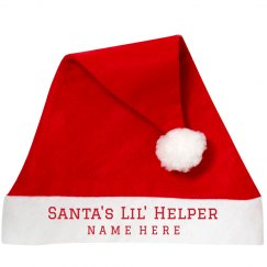 Santa's Lil' Helper Santa Hat