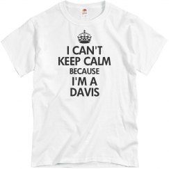 I can't keep calm Davis