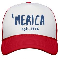'Merica 1776 July 4th Snap Back