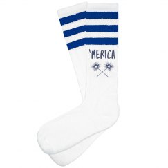 'Merica 1776 July 4th Socks