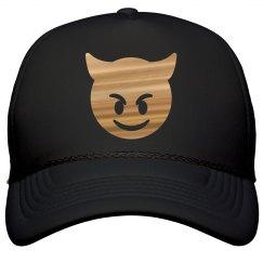 Metallic Emoji Devil Hat