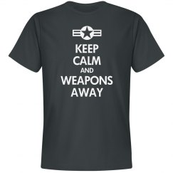 Weapons away
