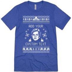 Customizable Elizabeth Warren Ugly Sweater Tee