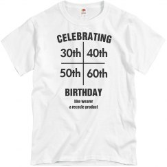 Multi birthday shirt