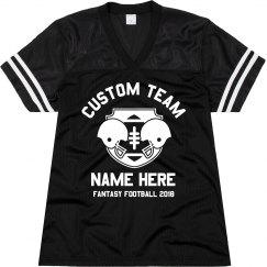 Custom Team Fantasy Football Text