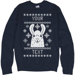 Custom Llama Ugly Sweater
