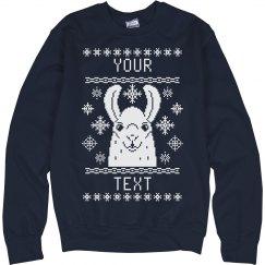 Custom Llama Ugly Sweater