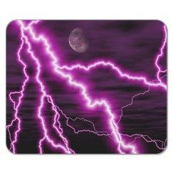 Purple Lightning Mousepad