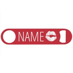 Custom Name Bottle Opener Kisses