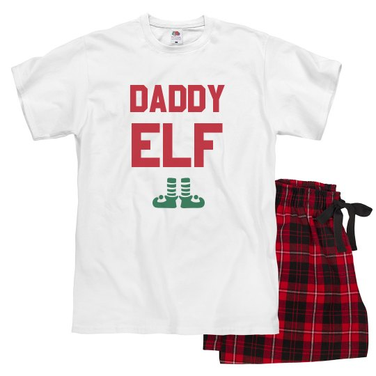 Daddy Elf Family Pajamas