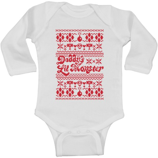 Daddy's Lil' Monster Xmas Onesie