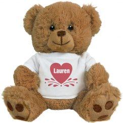 Little Heart Valentines Teddy Bear