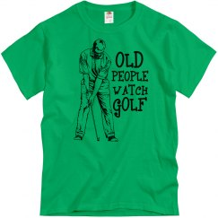 Old People Watch Golf