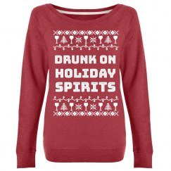 Drunk On Holiday Spirits Sweater