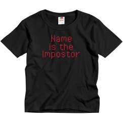 Kids Custom Imposter Among Us Shirt
