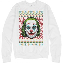 JOKER MOVIE UGLY CHRISTMAS SWEATER