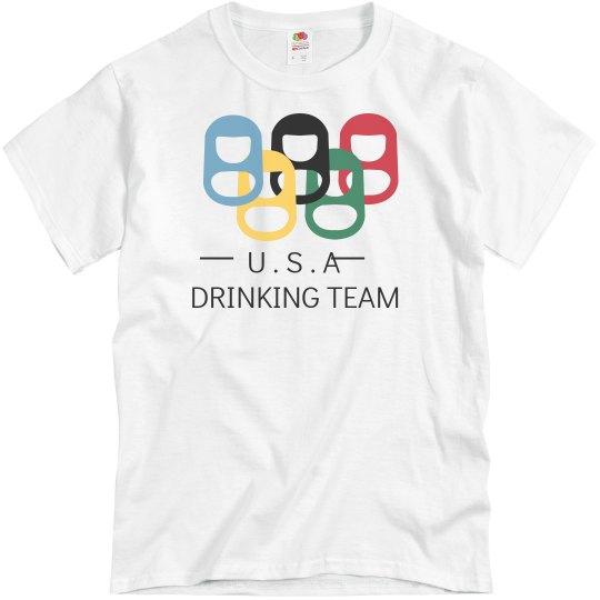 54f795efe Beer Tab Olympics Unisex Basic Promo T-Shirt