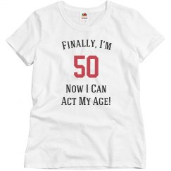Finally, I'm 50